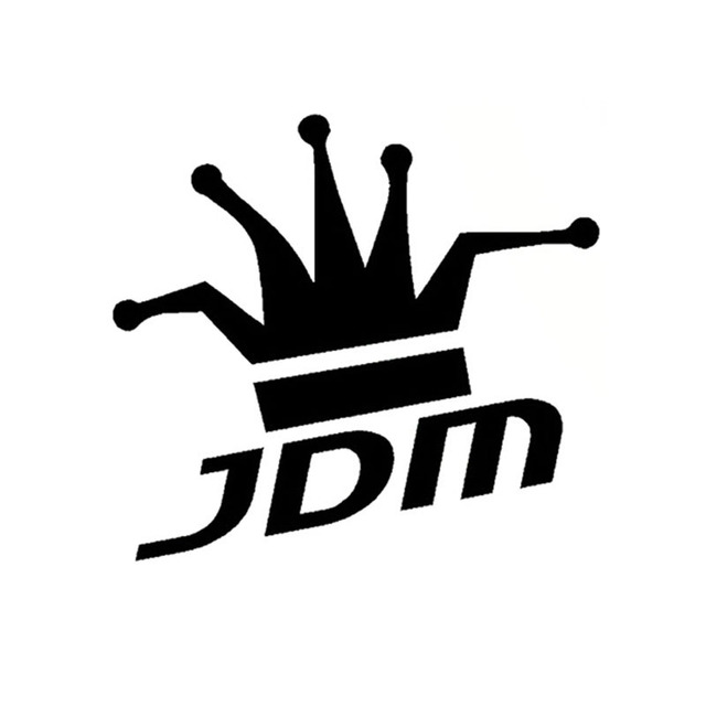 1413cm jdm king interesting king crown car sticker decal reflective car styling black