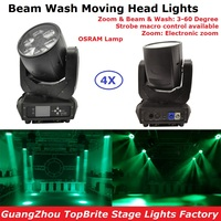 4XLot Carton Package 6X40W Osram RGBW 4IN1 Mini Bee Eye Moving Head Stage Lights 10/16 DMX Channels Zoom Function CE ROHS