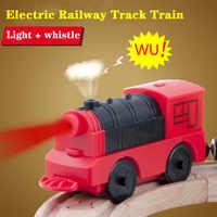 Combinaison d'accessoires de voie en bois de Train de Locomotive électrique magnétique Compatible avec BRIO et chemin de fer de voie de marque principale