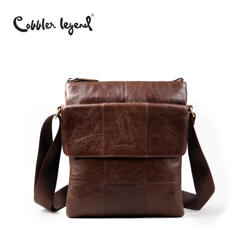 Cobbler Legend Brand Men's Bag Genuine Leather Men Messenger bags Business Men Travel Bag For Men Crossbody Shoulder Bag Handbag cobbler legend 2015 messenger 100