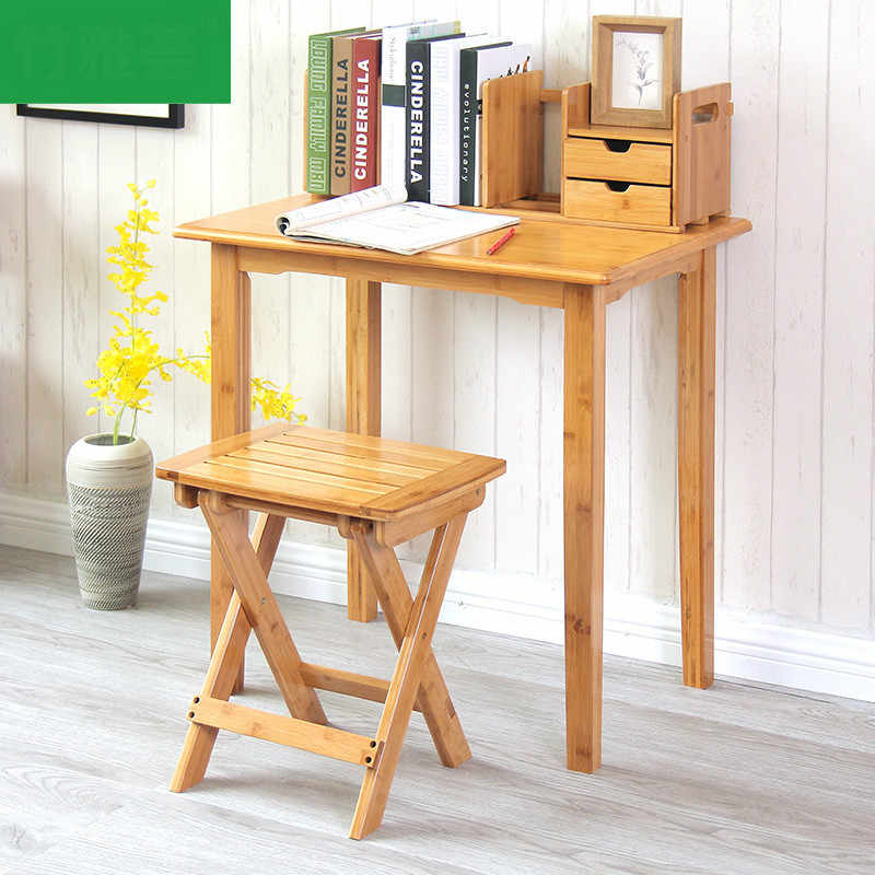 High Quality Bamboo Wooden Student Learning Desk Solid Laptop Desk Single  (Without chair) Simple Design Table Pupils Adults