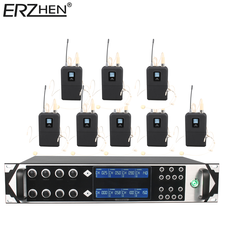 Simsiz mikrofon 9000GTA8 UHF 8 Kanal Simsiz Dinamik Mikrofon Karaoke - Portativ audio və video - Fotoqrafiya 2