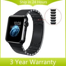 Нержавеющая Сталь Ремешок Для Часов Ручной Съемная для iWatch Apple Watch 38 мм 42 мм Наручные Группа Ссылка Ремень Браслет с Адаптерами 4 Цветов