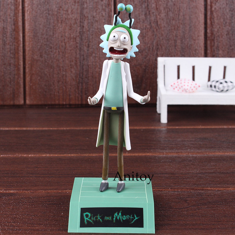 Rick and Morty PVC Figure Rick Sanchez Figurine Explicit Content! Peace Among Worlds Season 2 Episode 6 Collectible Toy Doll image