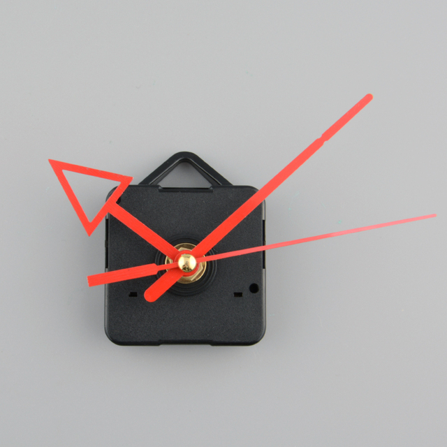 Silent Clock battery power Quartz Movement Mechanism Red Arrow Hand DIY Replacement Part Repair Set saat
