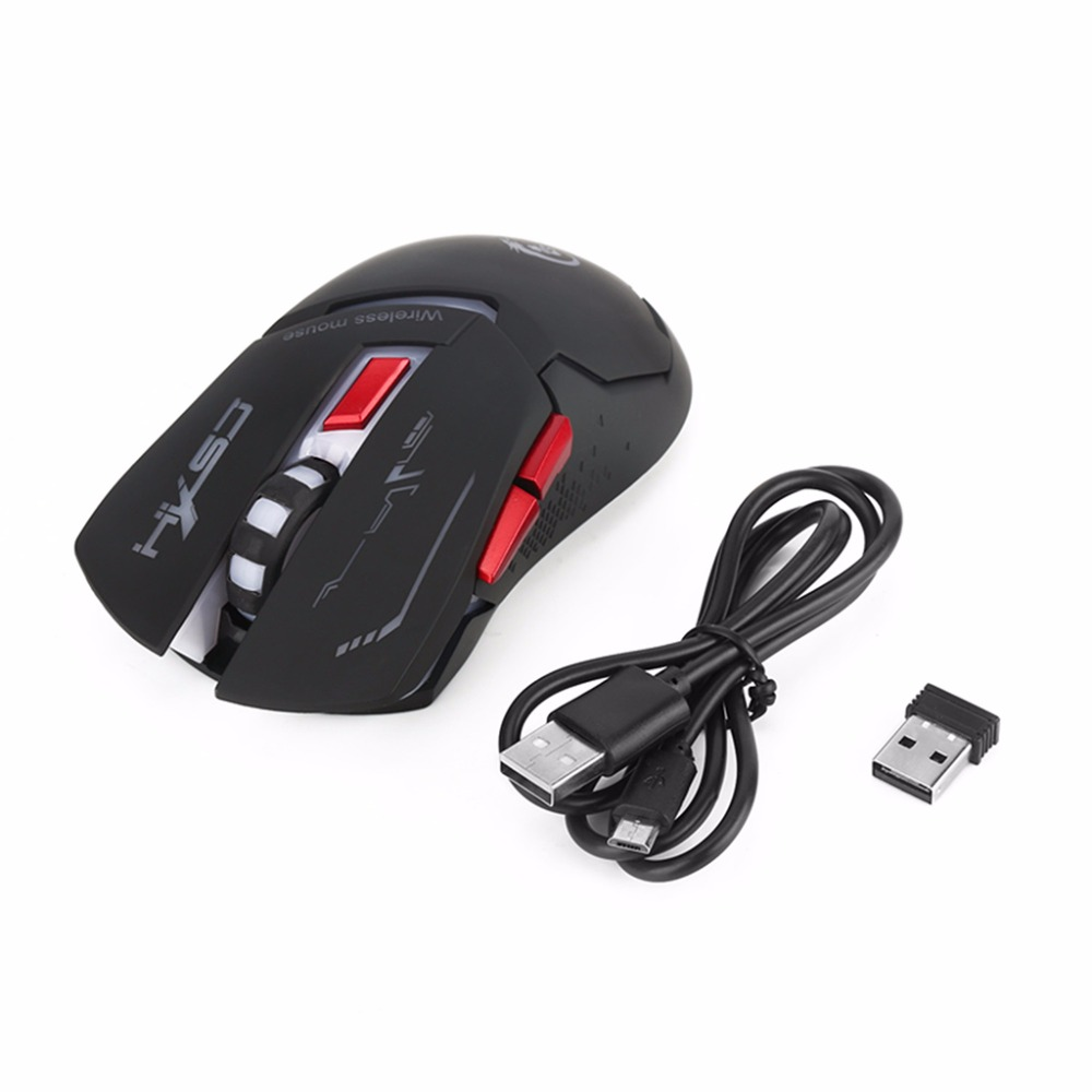 <font><b>X30</b></font> 2.4G USB Charging 2400DPI Rechargeable Gaming Wireless Optical Mouse Mice image