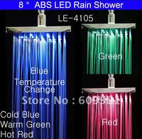 LED Shower Head LED Rainfall Shower Rain Shower LED Water Faucet LED Faucet Light With Temperature Sensor