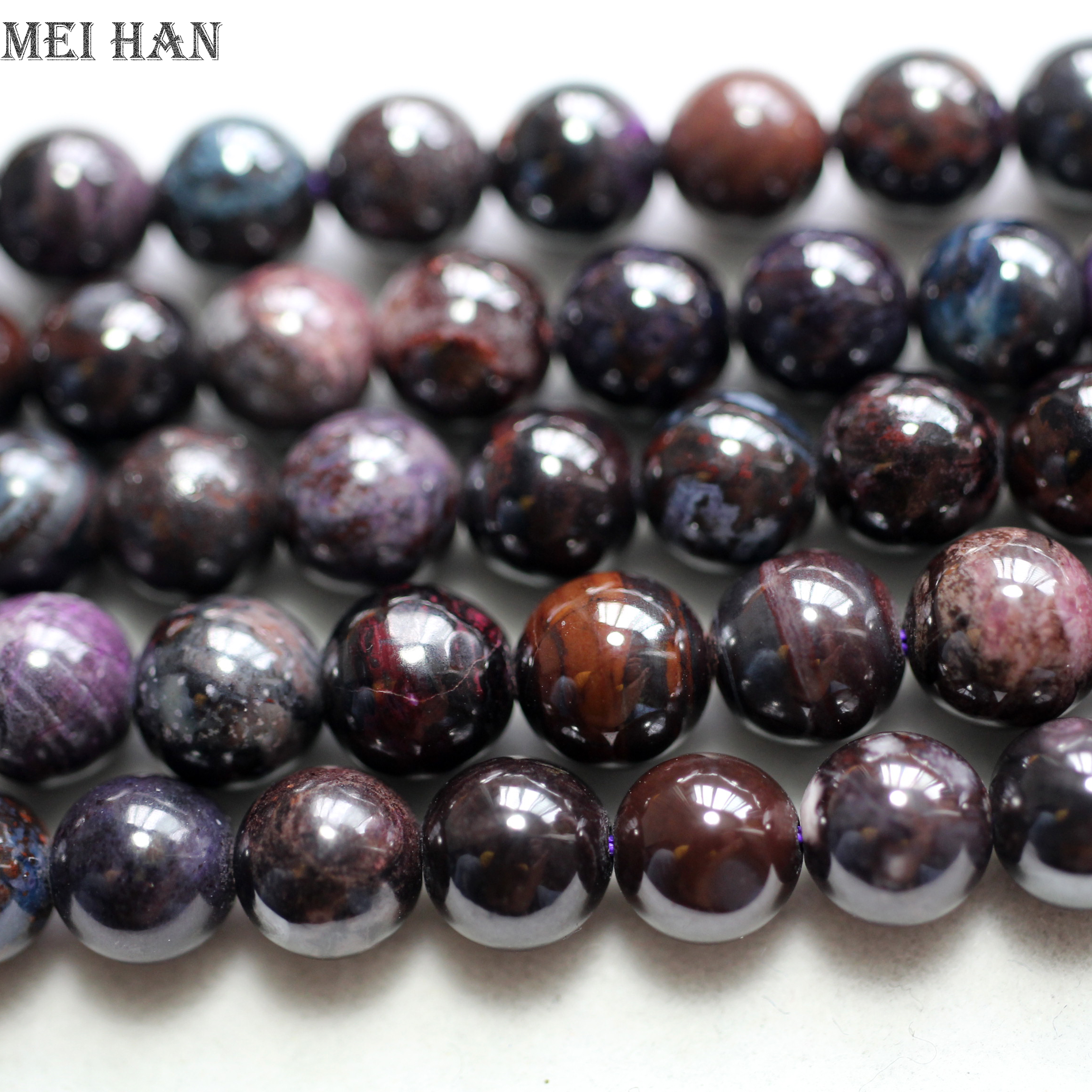 En gros naturel afrique du sud Sugilite 8.5mm + 0.2 (46 perles/ensemble/52g) lisse ronde lâche perles pierre pour faire la conception de bijoux-in Perles from Bijoux et Accessoires    1