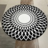 Round Carpet Trend Personality Black And White Living Room Sofa Bed Bedroom Fashion Custom Rug Fitting
