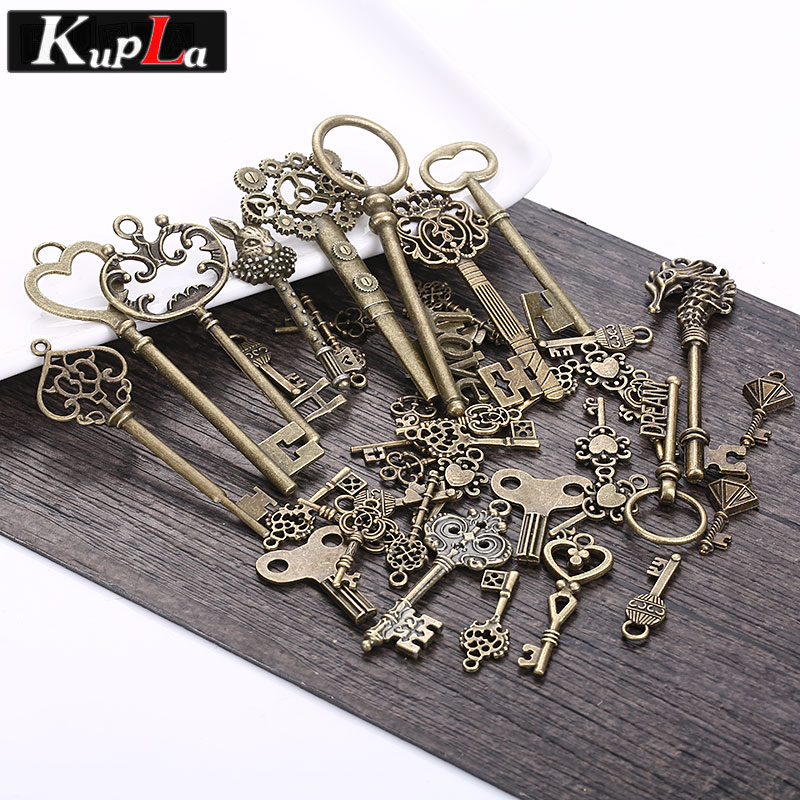 Vintage Wire Chain Jewelry Making Brass Chain Custom: Aliexpress.com : Buy Vintage Metal Mixed Charms Key Shape