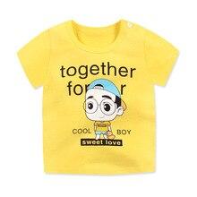 Детская одежда модные футболки для малышей летние хлопковые топы унисекс для маленьких мальчиков и девочек от 6 до 24 месяцев, детские футболки с короткими рукавами и круглым вырезом