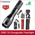 100% Authentic E17 3800 Lumens 5-Mode CREE XM-L T6 LED Flashlight Zoomable rechargeable Focus Torch by 1*18650 or 3*AAA