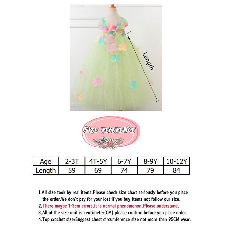 Yaşıl Çiçək Tutu Don Baby Girl Yay Princess Fairy Don Qızlar - Uşaq geyimləri - Fotoqrafiya 6