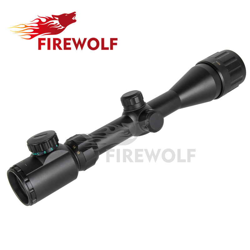 FIRE WOLF Hunting 4-16x40Scope Red Green Dot Sight Scope Illuminated Telescopic Scope Tactical hunting sight sight free shipping fyzlicion hunting fire wolf 6 24x60 m1 riflescopes rifle scope scope free shipping