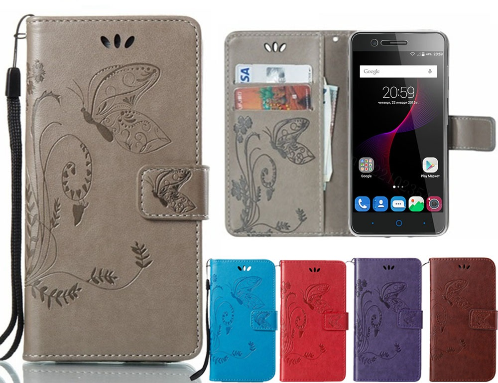 Butterfly <font><b>case</b></font> For <font><b>Doogee</b></font> X50 <font><b>X50L</b></font> X53 X55 X60L BL5000 BL7000 Mix 2 Lite Y6 High Quality Flip Leather Protective Phone Cover image