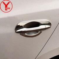 2010 2015 Door Handle Insert For Hyundai IX35 Facelift 2012 Accessories Chrome Door Handle Bowl Frame