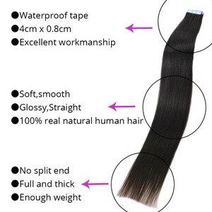 MRSHAIR 6 # الجلد لحمة الإنسان الشعر مستقيم 10 قطعة 20 قطعة الشريط في تمديد غير شعر ريمي جهين الشريط الشعر 16