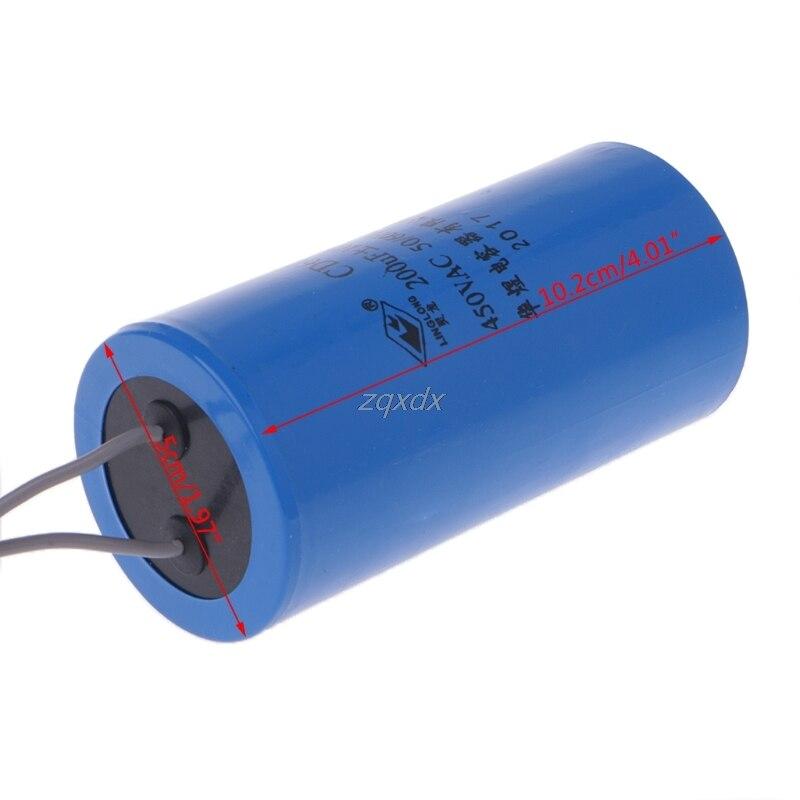 250-450V AC 200 мкФ прибор двигатель запуска конденсатор CD60 Высокое качество Горячая Прямая поставка