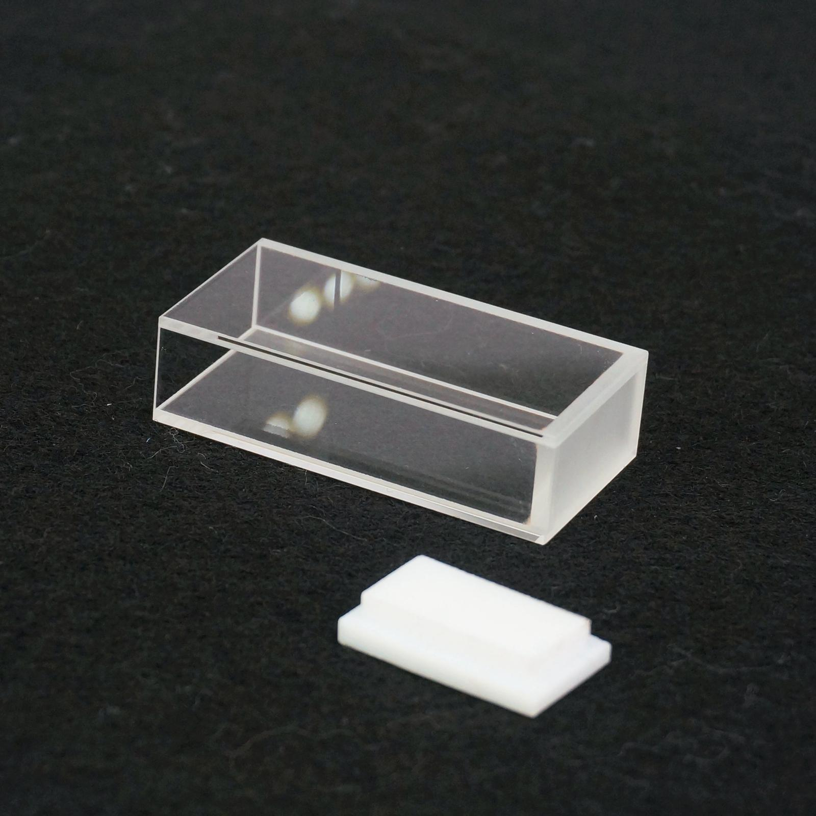 20mm Path Length JGS1 Quartz Cuvette Cell With Telfon Lid For Uv Spectrophotometers