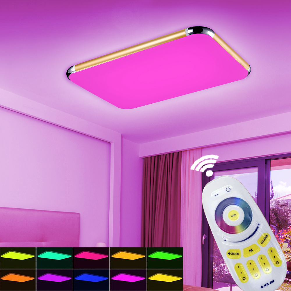 NEW Led Ceiling Lights Light Chandeliers Ceiling 2.4G RF Remote ...