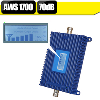 4G Signal Repeater LTE AWS 1700mhz LCD Display GSM 1700 70dB Gain Cellphone Cellular Booster Amplifier For US CA Mexico