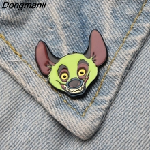 DMLSKY The Lion King Cartoon Brooch Metal Enamel For Women Men Tie Pins Unique Clothes Pin Badge Jewelry M2896