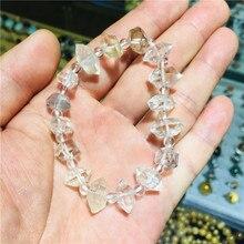 natural stones and minerals herkimer diamond bracelet rough gem healing crystals clear quartz crystal bracelet