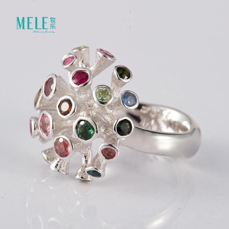 Prirodni turmalinski srebrni prsten, posebno dizajniran i popularan, - Fine nakit - Foto 2