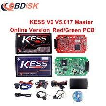 Online Red/Green Version KESS V2 V5.017 Kess Master HW 5.017 Kess V2 OBD2 Manager Tuning Kit ECU Programmer No Tokens Limited