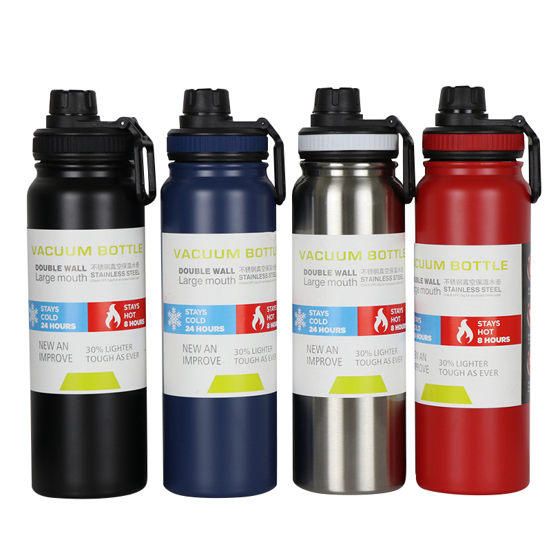 600/800ml 304 Stainless Steel Sport Thermos Large Capacity Gym Insulated Water Bottle Portable Travel Tumbler Vacuum Flask