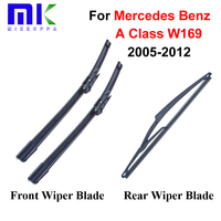 Combo Silicone Rubber Front And Rear Wiper Blades For Mercedes Benz A Class W169 2005 2012