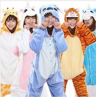 Wholesale Spring And Autumn Unicorn Pajama Sets Cartoon Sleepwear For Men Women Pajama Flannel Animal Stitch