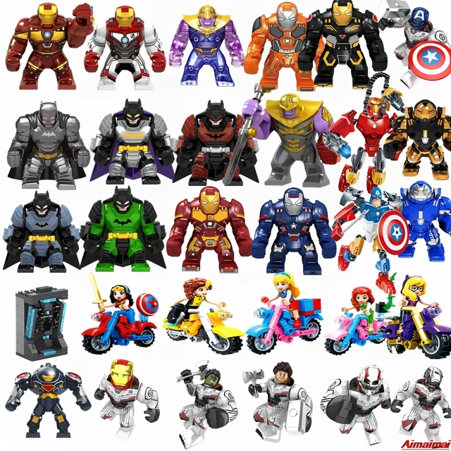 Super Heroes Justice League Figures Toy Superman Wonder Woman Thanos Green Lantern Batman Iron Man Superhero Toys Gifts Avengers