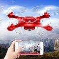 Envío gratis syma wifi x5uw/x5uc fpv rc quadcopter drones con plan de vuelo ruta app de control y mantenimiento de altitud función activable