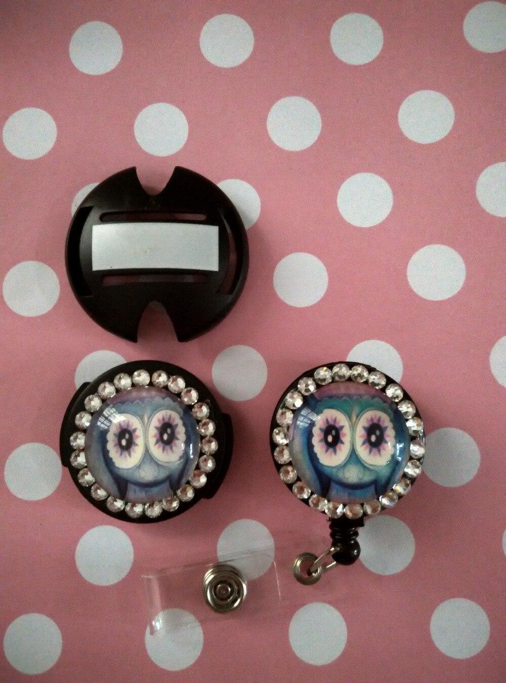 все цены на Owl Retractable id badge reel & stethoscope tag 2pcs/ set