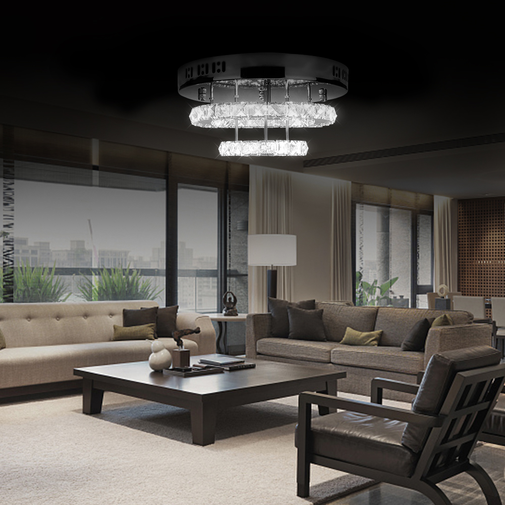 85-265V Modern Crystal LED Ceiling Light Fixture For Indoor Lamp lamparas de techo Surface Mounting Ceiling Lamp For Bedroom