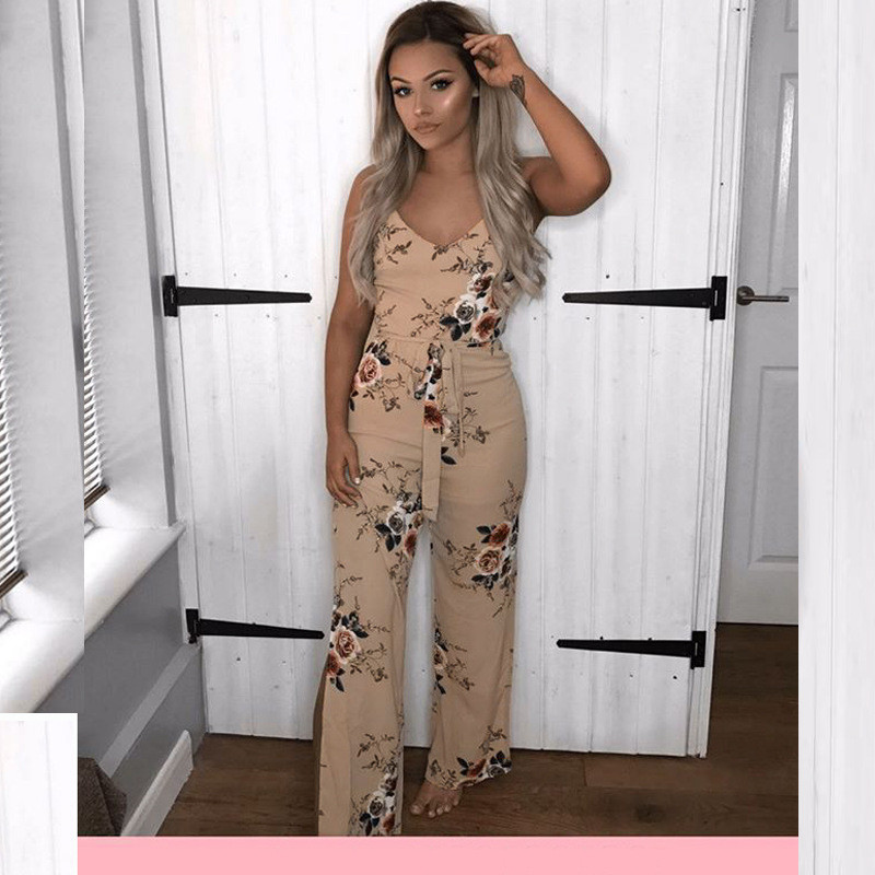 Fashion Rompers Womens Jumpsuit Bodysuit Women Elegant Summer Print Clothes Party Club Sexy Bodycon Casual Playsuit overalls