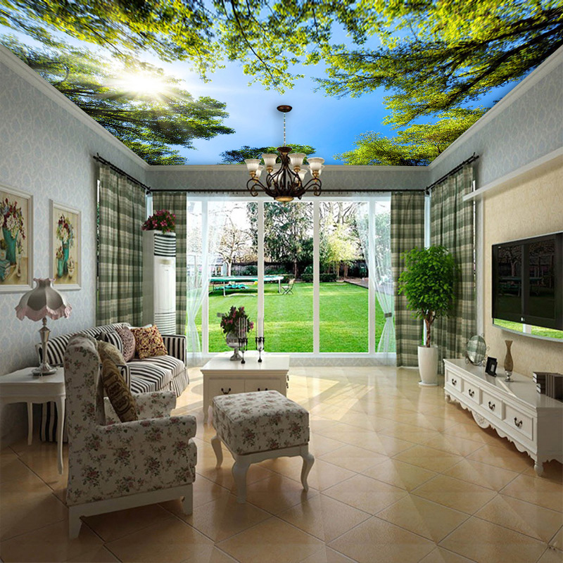 Custom 3D Mural Wallpaper Modern Creative Balcony French Window Nature Landscape Photo Wallpapers Living Room Bedroom Home Decor Herbal Products f4843c1c797abf1a256c88: 1 ㎡