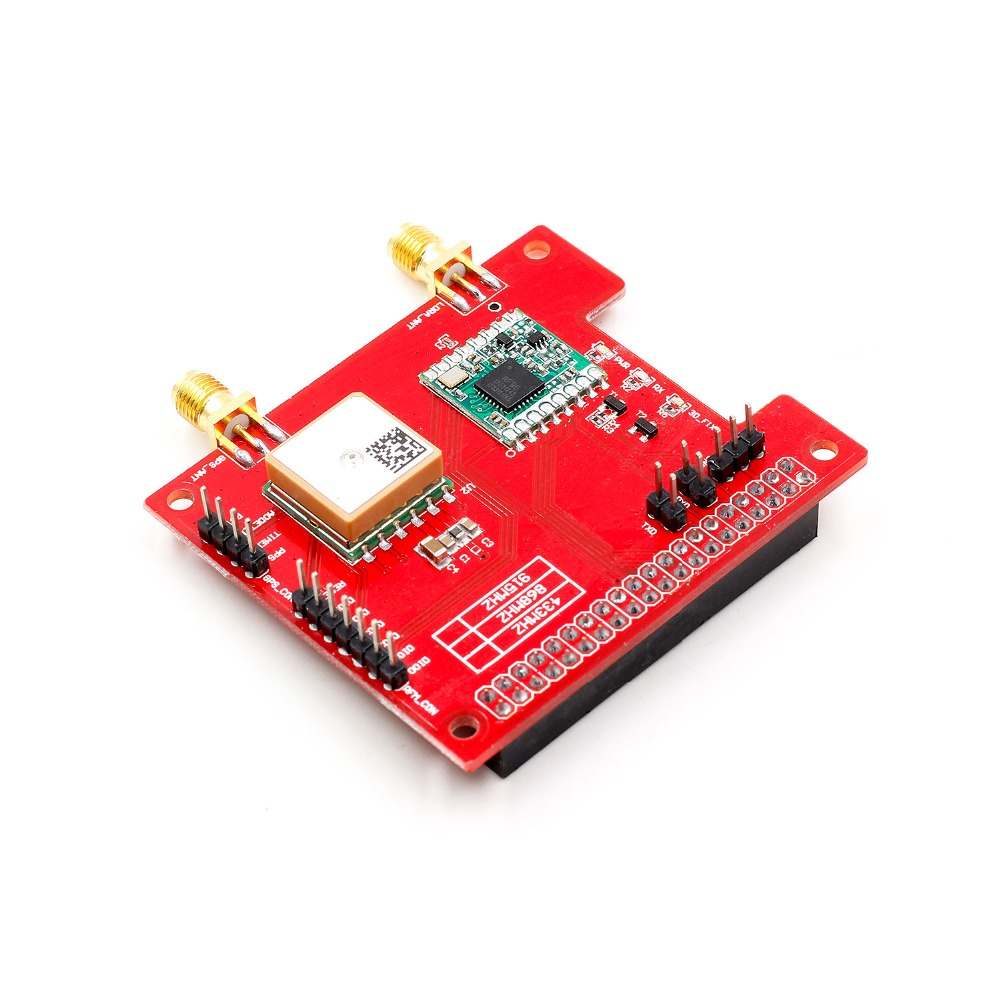 ong distance wireless 433/868/915Mhz Lora and GPS Expansion Board for Raspberry Pi