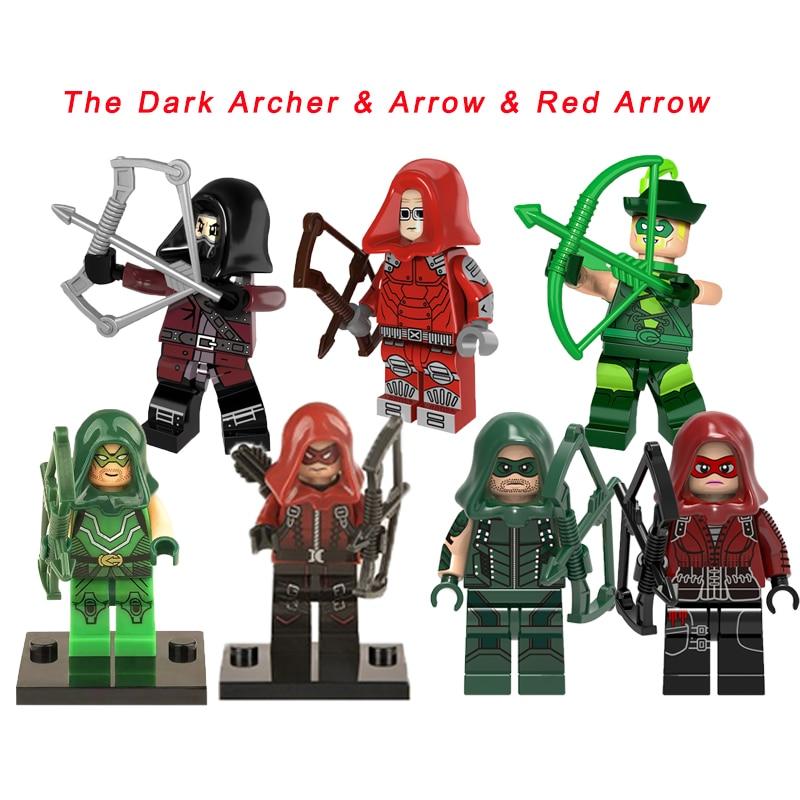 Legoelys Red Arrow/The Dark Archer/Green Arrow Super Heroes Emiko Queen Arsenal Avengers Oliver Queen Building Blocks Toys