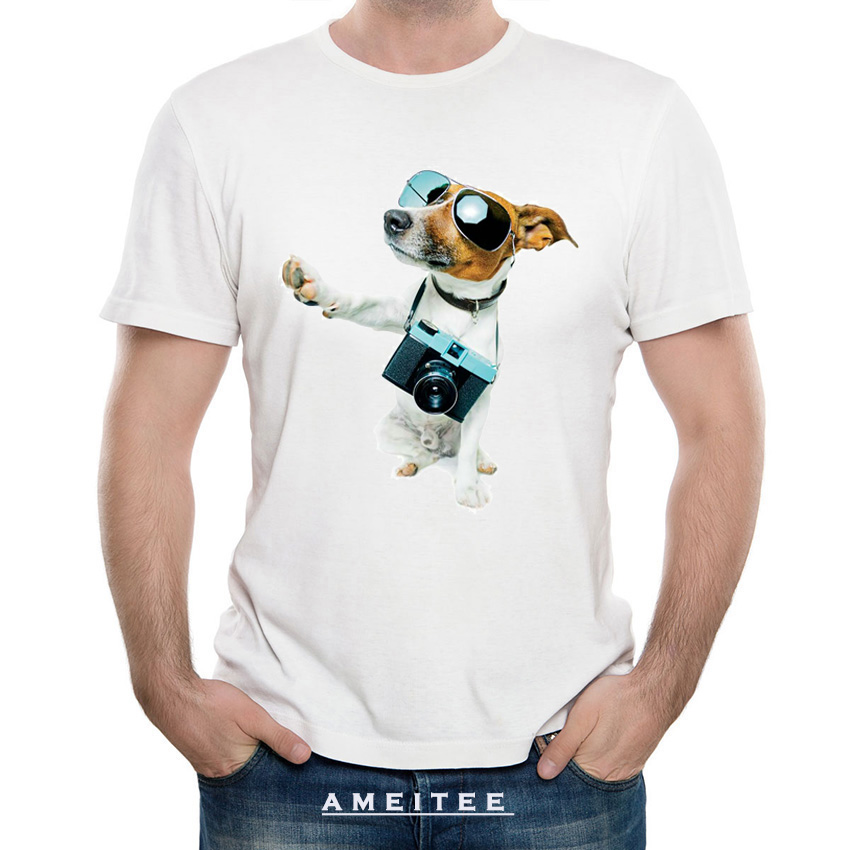 Hipster cool Jack Russells dog design t-shirt fashion men funny T-Shirt cute dog print c ...