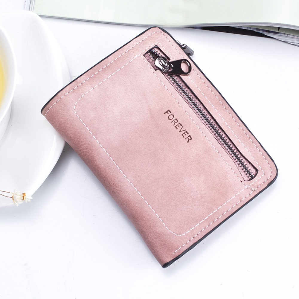 Women Simple Solid Color Zipper Coin Purse Short Wallet Card Holders Handbag design Passport Holder PU Leathe bolsa feminina mooistar2 3001 women solid color coin purse long wallet card holders handbag