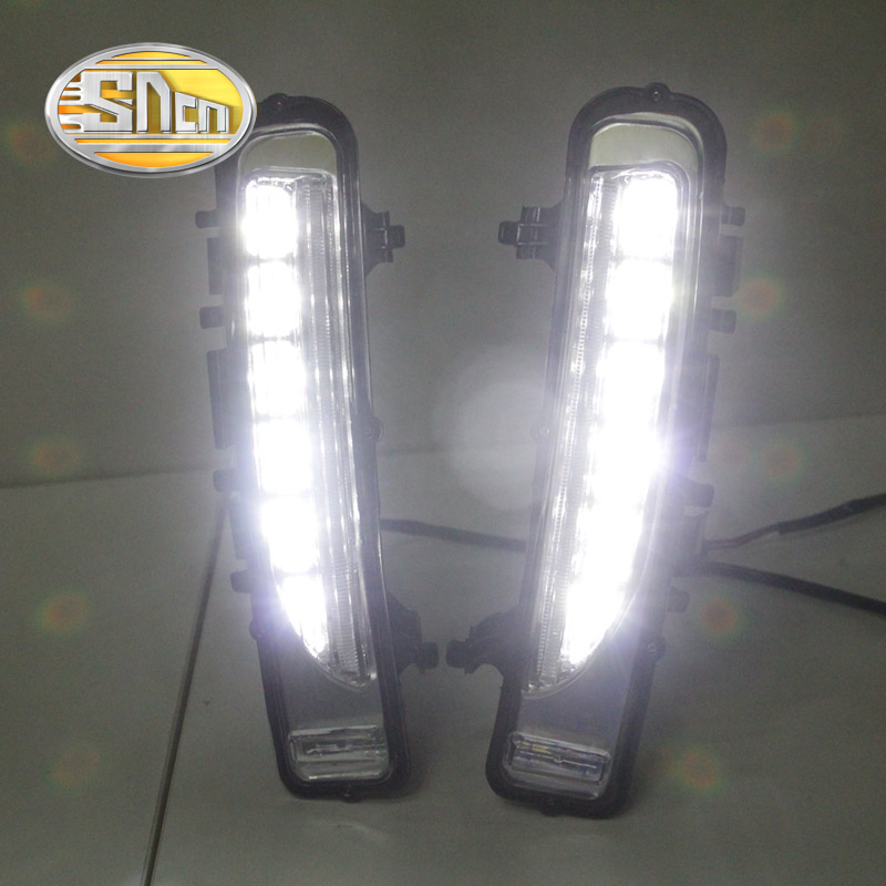 SNCN 2PCS LED Daytime Running Light For Ford Edge 2009 - 2014 Car Accessories Waterproof ABS 12V DRL Fog Lamp Decoration