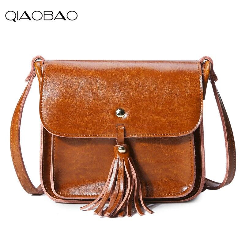 Qiaobao бренд 100% Пояса из натуральной кожи сумка известный кисточкой Для женщин сумка конверт Для женщин клатч Small Crossbody Bag