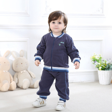 2017 Baby Boy Girl Clothes Set Fleece Set Outerwear Toddler Boy  Girl Clothing Outfit  Autumn Winter