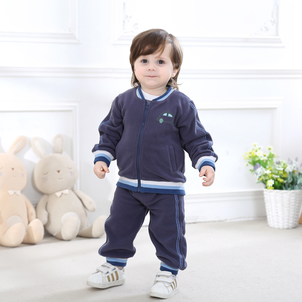 2018 Baby Boy Girl Clothes Set Fleece Set Outerwear ...