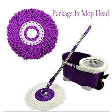 360 Degree Rotating Microfiber Replacement Spin Mop Head Easy Magic Kitchen Bathroom Floor Cleaner Mops Heads Household