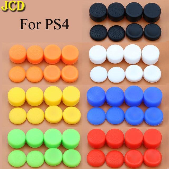 JCD 8 ピース/ロット強化シリコーンアナログジョイスソニーのプレイステーション 4 のため PS4 コントローラジョイス