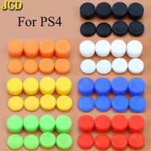 JCD 8 cái/lốc Tăng Cường Dẻo Silicone Analog Cần Điều Khiển Tay Cầm Nắp cho Máy Chơi Game Sony Playstation 4 cho PS4 Bộ Điều Khiển Joystick Bao