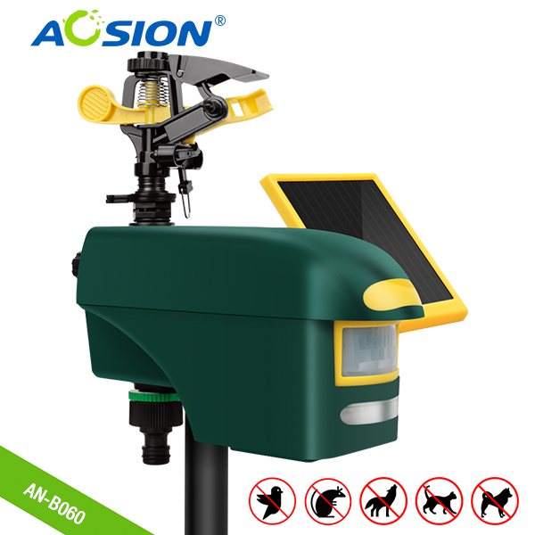 Free Shipping Aosion Smart Home Garden Multifunctional Sprinkler PIR Flashing Solar Power Outdoor Deer Birds Dog Fox Repeller
